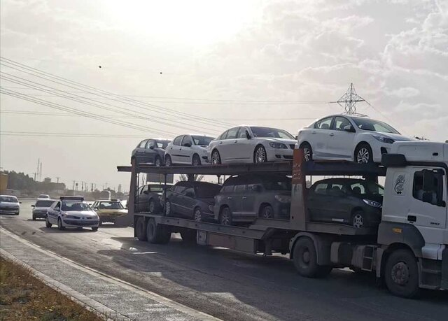 تریلی خودروبر تهران به لاهیجان