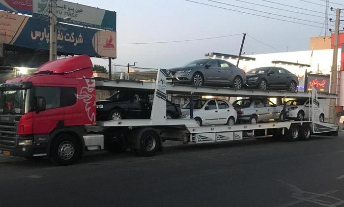 تریلی خودروبر تهران به جوانرود