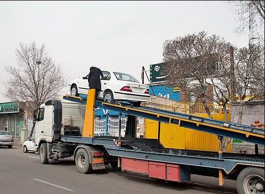 تریلی خودروبر تهران به گناباد